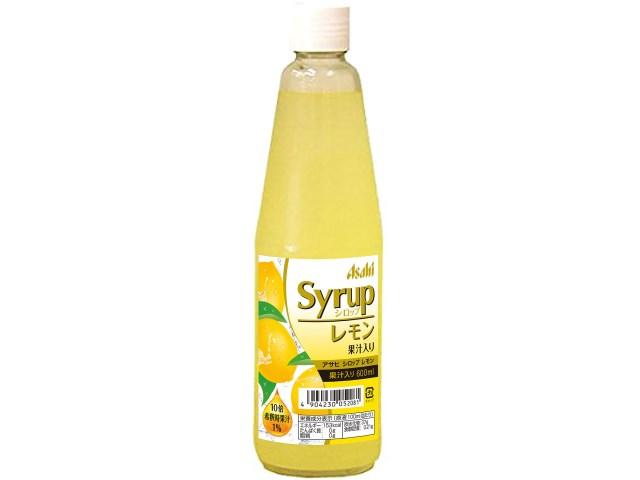 アサヒシロップ レモン果汁入り 600ml